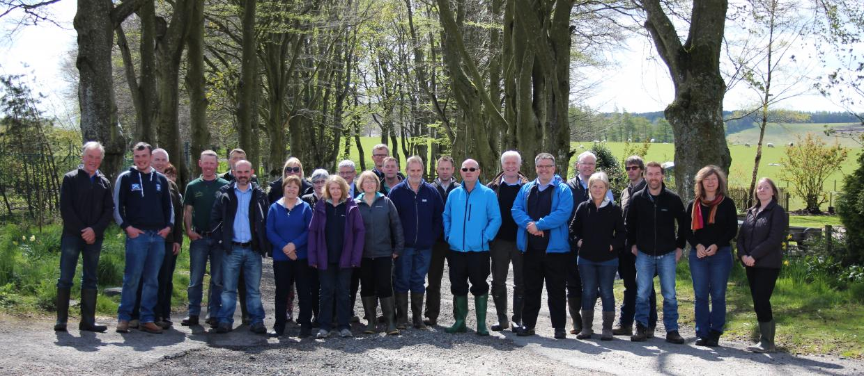 Group photo at Glensaugh